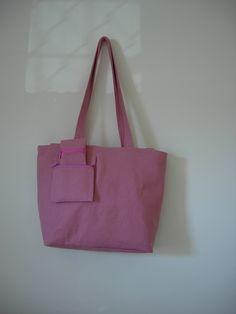 borsa in stoffa con taschino interno ed esternoe portaocchiali