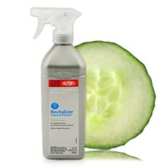 Looking for a 'green' way to clean your faucets, sinks or stainless steel? Take a slice of cucumber and rub it on the surface you want to clean, not only will it remove years of tarnish and bring back the shine, but it won't leave streaks and won't harm you fingers or fingernails while you clean.