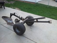 Top Homemade Atv Attachments Wallpapers Lawnmower In 2018 Tractor Plow, Tractor Mower, Lawn Tractors, Small Tractors, Farm Tools, Garden Tools, Lawn And Garden, Atv Plow, Homemade Tractor