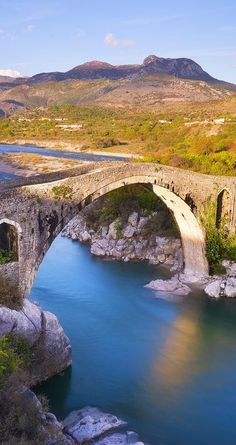 Old Mes Bridge - Ura E Mesit in Shkoder, Albania