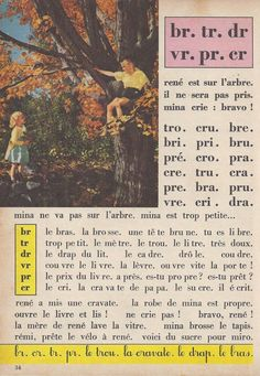 Manuels anciens: Tranchart, Bien lire et comprendre CP (1961) : grandes images French Lessons, Learn French, Education, Learning, Books, Vintage, Learning French, French Tips, Verb Words