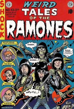 """inspiringoddsnsods: """"The great William Stout cover and a few select stories by Johnny Ryan and Jaime Hernandez from the Weird Tales of The Ramones box set from Rhino Records released in 2005… """""""