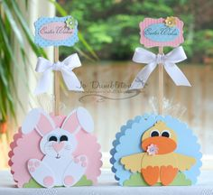 Cute Easter Favors #baby #shower #favors #punches #scrapbook #easter #party