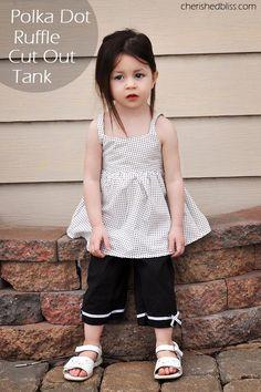 DIY Ruffle : Peek a Boo Bow Toddler Shirt Tutorial   : DIY Clothes DIY Refashion