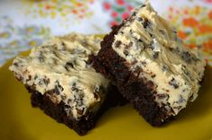 Chocolate Chip Cookie Dough Brownies.  Wow!!