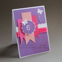 carte anniversaire petite fille 6 ans  - La Carterie d'Aurélie
