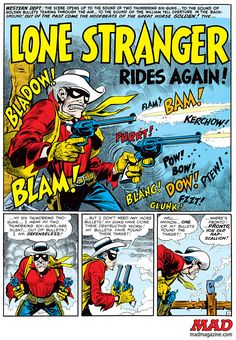 "Jack Davis, Founding ""MAD Magazine"" Cartoonist, Has Passed Away William Tell, Jack Davis, Mad Magazine, Lone Ranger, Passed Away, Guy Pictures, Comic Books Art, Book Art, Comic Strips"