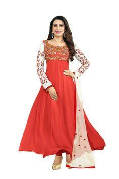 Designer Wear Karishma Kapoor Orange Anarkali Suit