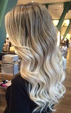 Blended Blonde Balayage Hair