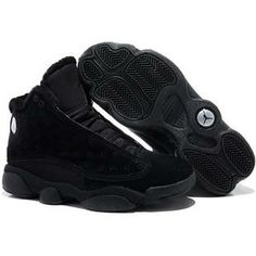 release date: 95179 418c0 Fashion Air Jordan 13 (XIII) Inside with fluff All Black Sports Shoes Store