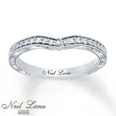 Neil Lane Wedding Band 1/6 ct tw Diamonds 14K White Gold