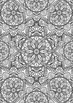 PApparently I Wasnt Happy With Just Putting One Page Out Today FLOWER Coloring PagesDetailed PagesPattern PagesMandala