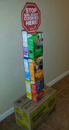 Girl Scout cookie booth idea.