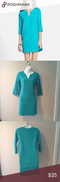 "Everly Turquoise Shift Dress. Size xsmall  Everly Turquoise Shift Dress. Size xsmall. Polyester 33"" long Everly Dresses"
