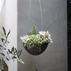 "12"" Recycled Hanging Planter - Black - Smith & Hawken™ : Target"