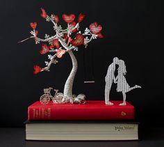 L'albero dell'amore Art Book Libro scultura alterato