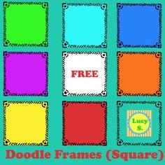 {Free} Doodle Frames - Square