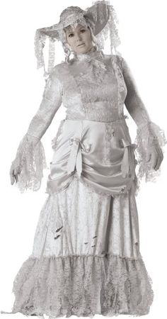 Plus size ghost costume for women. The ghostly lady costume in plus size is a great costume for Halloween. Women's plus size costumes has a range of plus costumes. Plus Size Adult Halloween Costumes, Halloween Dress Up Ideas, Plus Size Costume, Clever Halloween Costumes, Ghost Costumes, Adult Costumes, Costumes For Women, Costume Ideas, Couple Costumes