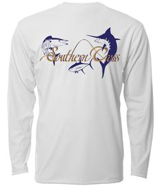 "Southern Cross Apparel ""Offshore"" performance long sleeve fishing shirt in White."
