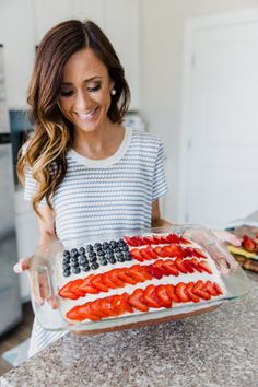 americanflagcake, american flag cake, 4th of july poke cake, modcloth