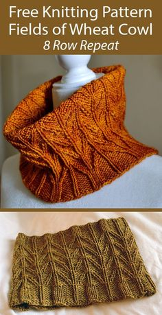 Easy Knitting, Loom Knitting, Knitting Stitches, Knitting Patterns Free, Knit Patterns, Knit Scarves Patterns Free, Crochet Cowl Free Pattern, Knitting Scarves, Beginner Knitting