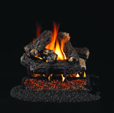 CJs Hearth and Home - Rustic Oak Designer - Special Sized Vented Gas Log Set. #fireplace #fire #logs #gas logs