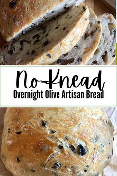 Easy Bread Recipes, Savoury Recipes, Savoury Dishes, Delicious Recipes, Overnight Bread Recipe, Olive Loaf, Good Food, Yummy Food, Best Comfort Food