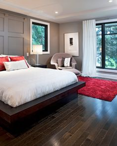 Would love a platform bed like this with built-in drawers