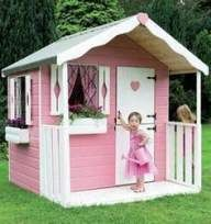 Outside Playhouses For Little Girls Cheap Childrens Playhouse Kids Playhouse Plans, Outside Playhouse, Girls Playhouse, Childrens Playhouse, Playhouse Kits, Backyard Playhouse, Build A Playhouse, Playhouse Outdoor, Cubby Houses