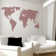 wereldkaart muur - Google Search