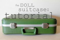 Vintage doll suitcase: with three interchangeable rooms and doll pattern from Black Apple via Martha Stewart.