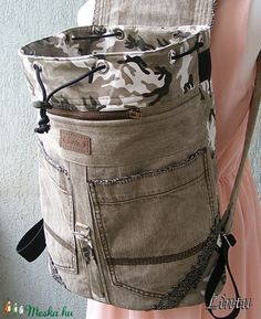 Nagy méretű csipkés hátizsák  újrahasznosított farmerből (Lintu) - Meska.hu Lany, Backpacks, Fashion, Moda, Fashion Styles, Backpack, Fashion Illustrations, Backpacker, Backpacking