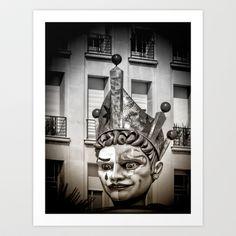 Harlequin of Nice Art Print by Karen Lindale - $20.80