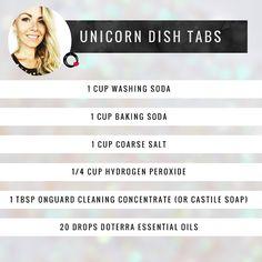 HOL:FIT: Unicorn Dishwasher Pucks (dish tabs with liquid/powder option)