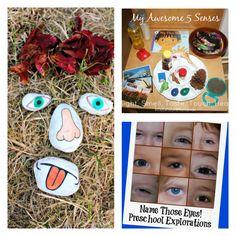 five senses preschool all about me theme September Preschool Themes, Five Senses Preschool, Preschool Science Activities, Eyfs Activities, Preschool Art, Preschool Playground, Preschool Classroom, Toddler Preschool, Kindergarten
