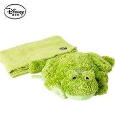 (39.49$)  Buy here  - Disney Frog Plush Toys Stuffed Doll Portable Rest Pillow Blanket Pillow Peluches Children Activity Toy Christmas Gift Brinqued