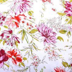 Watercolor Garden Cotton Knit Fabric