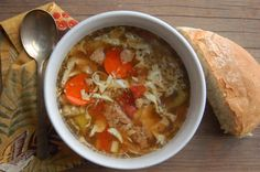 {Winter} Sunday Supper: Beef Barley Soup and Crusty French Bread