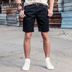 New Casual Shorts Men Cargo Work Male Fashion Short Pants