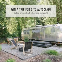 It's #wanderlustwednesday and we have a crazy fun feature (and GIVEAWAY!) to share with you guys today! The lovely ladies of @beijosevents put together an epic glamping getaway at @autocamp in Northern Cali. At AutoCamp, you stay in either a totally renovated rad airstream trailer or glamping tents! So fun! Lots more about AutoCamp and what to do in Guernivlle over #onGWS today {link in profile for more} #GWStravel // 📷: @carliestatsky . . . ✨ G I V E A W A Y ✨ . . Enter to win this epic…