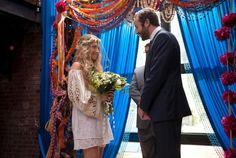 """Girls 1x10 """"She Did"""" Jessa wedding - hippie woodlands - like her veil"""