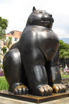 Botero: Chat assis (Barcelone)