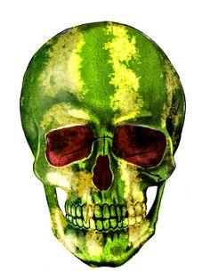WATERMELON SKULL #SKULLSERIE IG. @iLechuga7