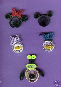 Disney Quilled characters.