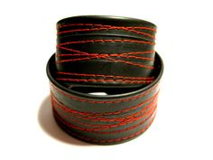 Recycled Bike Tube Cuff by RogueCityKillers, $7.00