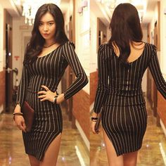 Find More Information about Vestidos 2015 Spring Sexy Placketing Basic Long sleeve Vertical Stripes Zipper One piece Dress Slim Hip Elegant Thickening Dress,High Quality dresses prom dress,China dress elegant Suppliers, Cheap dresses celebrities from New Butterfly on Aliexpress.com