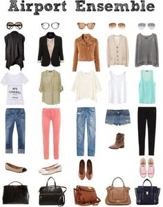 5 Traveling Outfits.                            Two that I could see myself in.