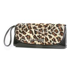 Miss Lux Clutch In Black And Leopard