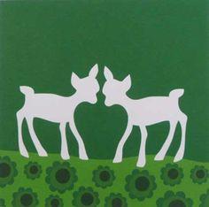 Kaart Hertjes in het groen van Blafre