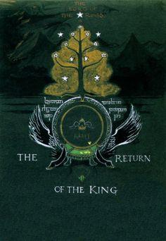 """A capa de tolkien para """"O retorno do Rei"""" (Foto: reprodução)"""
